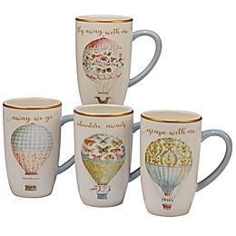 Certified International Beautiful Romance Balloon Mugs (Set of 4)