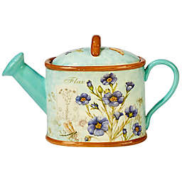 Certified International Herb Blossoms 3D Watering Can Teapot