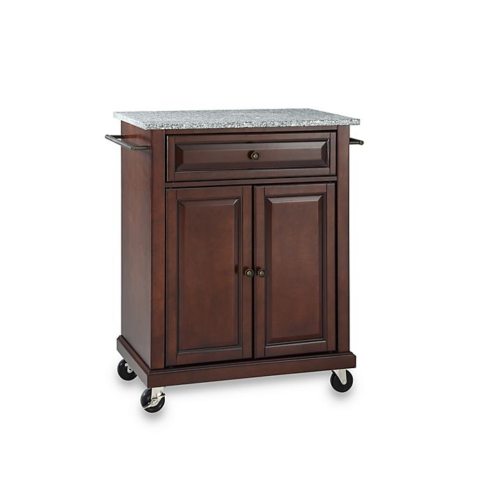 Crosley Granite Top Rolling Portable Kitchen Cart Island In Mahogany