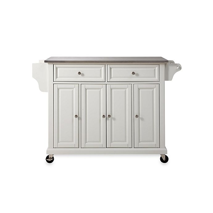 Crosley Rolling Kitchen Cartisland With Stainless Steel Top Bed