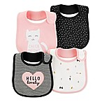 carter's® Size 0-6M 4-Pack Kitty Teething Bibs in Pink