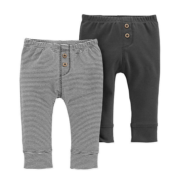 e665e167de02 carter s® 2-Pack Pull-On Pants in Black