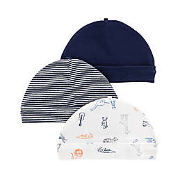 carter's® 3-Pack Lion Caps in Navy