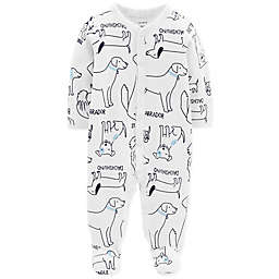 carter's® Snap-Up Dog Thermal Sleep & Play Footie in Ivory