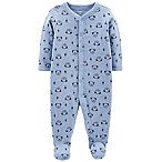 carter's® Size 3M Snap-Up Dog Thermal Sleep & Play Footie in Blue