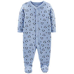 carter's® Snap-Up Dog Thermal Sleep & Play Footie in Blue
