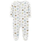 carter's® Size 9M Snap-Up Bear Thermal Sleep & Play Footie