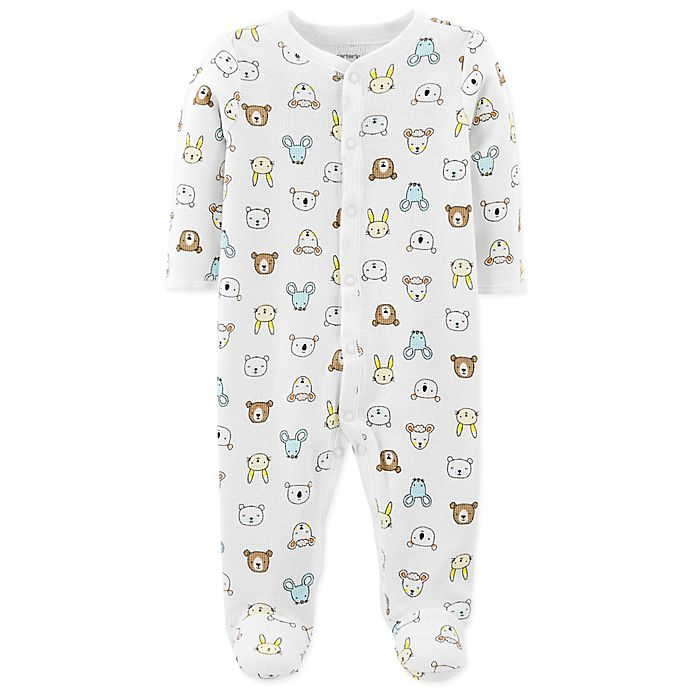 958e5021eb89 carter s® Snap-Up Bear Thermal Sleep   Play Footie