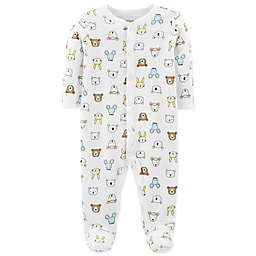 carter's® Snap-Up Bear Thermal Sleep & Play Footie