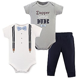 Little Treasure 2-Piece Dapper Bow Tie Bodysuit and Pant Set