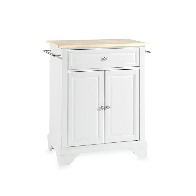 Alternate image 1 for Crosley LaFayette Wood Top Kitchen Cart