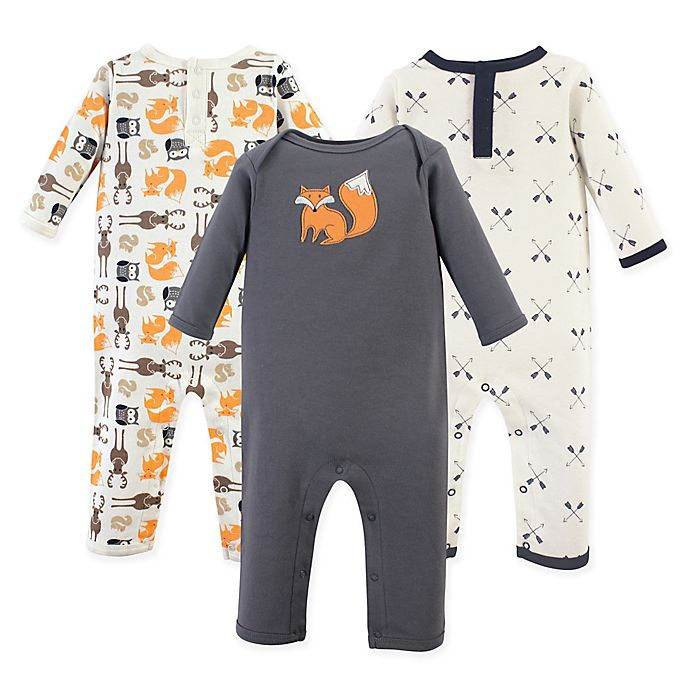 Alternate image 1 for Hudson Baby® 3-Pack Perfect Forest Union Suit
