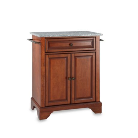astounding portable kitchen islands granite tops | Crosley LaFayette Solid Granite Top Portable Kitchen ...