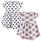 Yoga Sprout Size 6-9M 2-Pack Bloom Short Sleeve Dress Set in White
