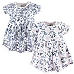 Yoga Sprout Size 18-24M 2-Pack Whimsical Short Sleeve Dress Set in Blue
