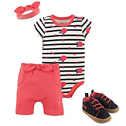 Yoga Sprout Wild Floral 5-Piece Bodysuit, Shorts, Headband and Shoe Set