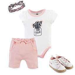 Yoga Sprout 4-Piece Fresh Bodysuit, Shorts, Headband, and Shoe Set