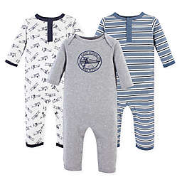 Hudson Baby® 3-Pack Aviation Union Suit