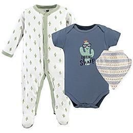 Hudson Baby 3-Piece Cactus Sleeper, Bodysuit, and Bandana Bib Set