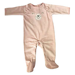 Sterling Baby Bunny Footed Coverall in Pink