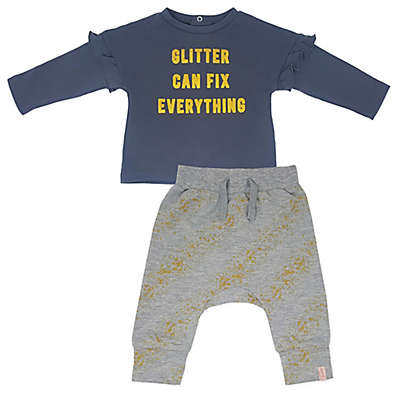 Mini Heroes™ Glitter Fix Long Sleeve Shirt and Pant Set