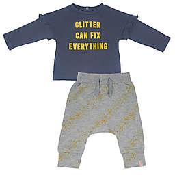 Mini Heroes™ Glitter Fix Long Sleeve Shirt and Pant Set