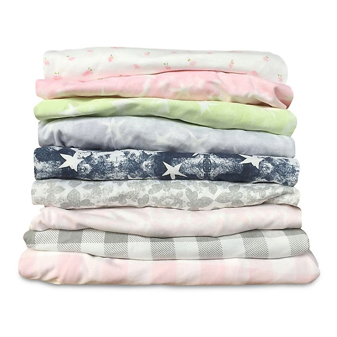 Alternate image 1 for Burt's Bees Baby® 100% Organic Cotton Fitted Crib Sheets