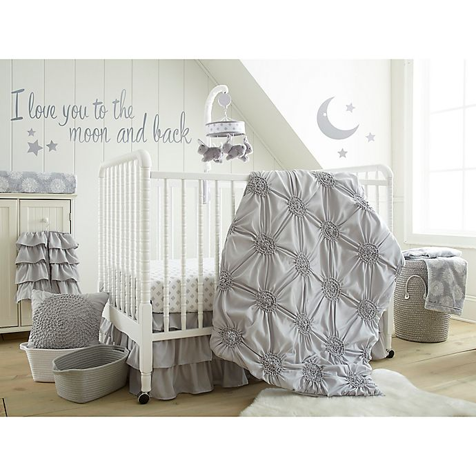 Alternate image 1 for Levtex Baby® Willow 5-Piece Crib Bedding Set in Grey