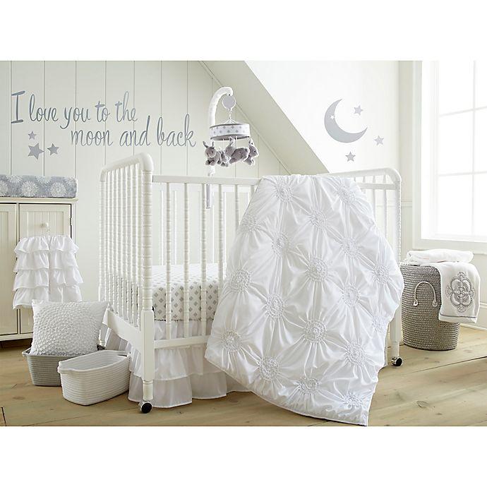 Alternate image 1 for Levtex Baby® Willow 5-Piece Crib Bedding Set in White
