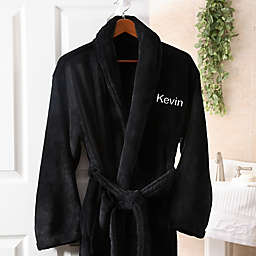 Just For Him Luxury Fleece Robe in Black