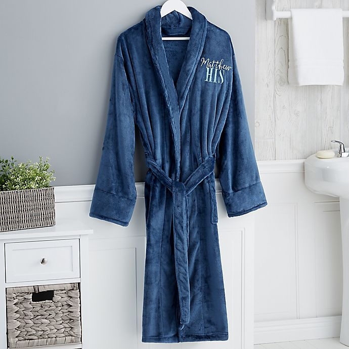 Alternate image 1 for His or Hers Luxury Fleece Robe