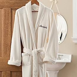 Luxury Fleece Robe in Ivory