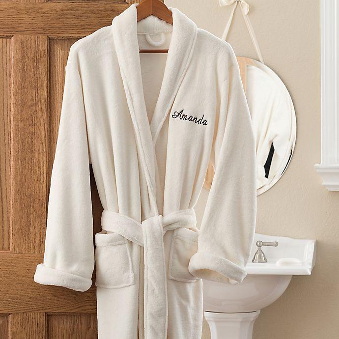 Alternate image 1 for Luxury Fleece Robe in Ivory