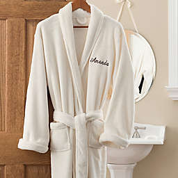 Luxury Fleece Robe in Ivory