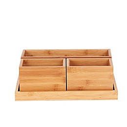 4-Piece Tray Set in Bamboo