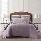 Oceanfront Resort Chambray Coast Twin XL 2 Piece Comforter Set in Plum