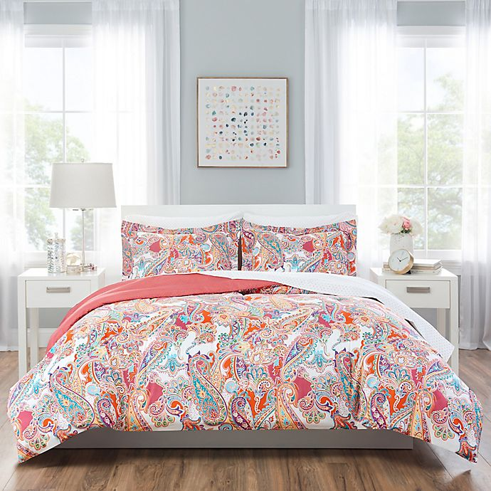 Alternate image 1 for Nicole Miller Kids Paisley Comforter Set