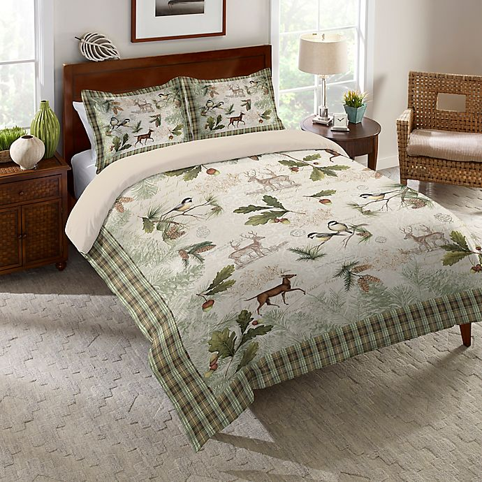 Laural Home® Woodland Forest Comforter In Green