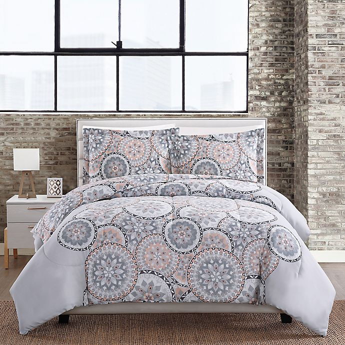 Alternate image 1 for Ariel Medallion 3-Piece Comforter Set