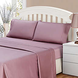 500-Thread-Count Sateen Full Sheet Set in Elderberry