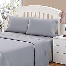 500-Thread-Count Sateen Full Sheet Set in Grey