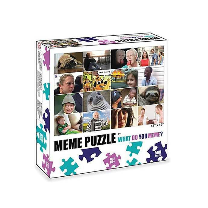 Alternate image 1 for What Do You Meme? 500-Piece Grid Puzzle