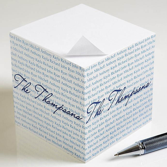 Alternate image 1 for Family Is Forever Paper Note Cube