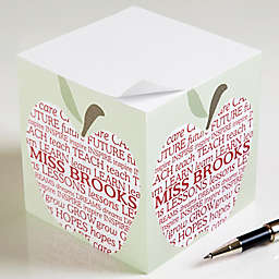 Apple Scroll Teacher's Paper Note Cube