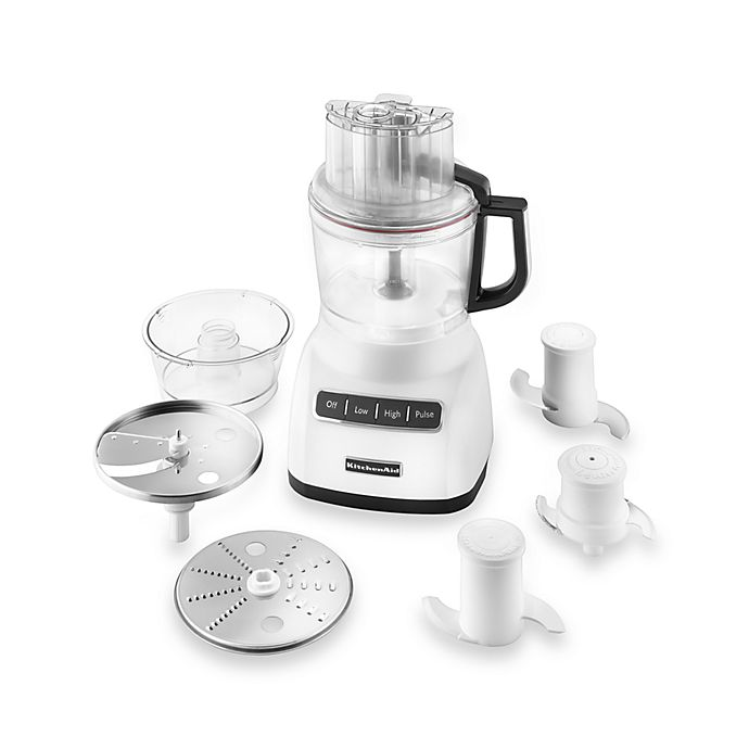 Alternate image 1 for KitchenAid®® 9 Cup Food Processor in White