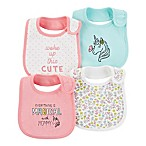 carter's® Size 0-6M 4-Pack Unicorn Teething Bibs in Pink