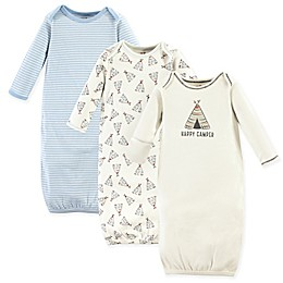 Touched by Nature 0-6M 3-Pack Teepee Organic Gowns