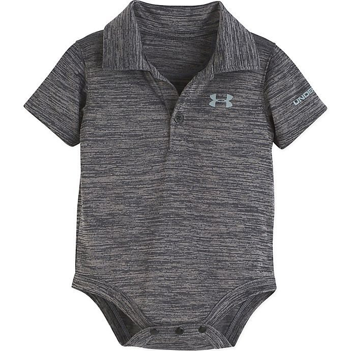 Alternate image 1 for Under Amour® Twist Polo Bodysuit in Heather Grey