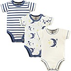 Touched by Nature 9-12M 3-Pack Moon Organic Bodysuits