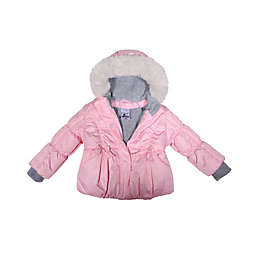 ZeroXposur Emily Puffer Coat in Pink Blush